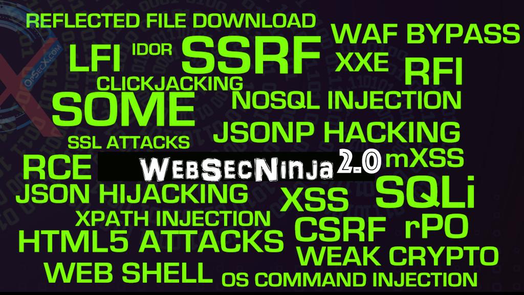 WebSecNinja 2 0 : Web Application Security TrainingOpSecX